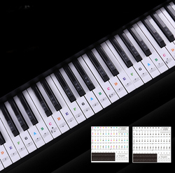49 54 61 88 Keys Electronic Piano Keyboard Sound Name Stickers Key Sticker Piano Stave Music Decal Label Note Sticker