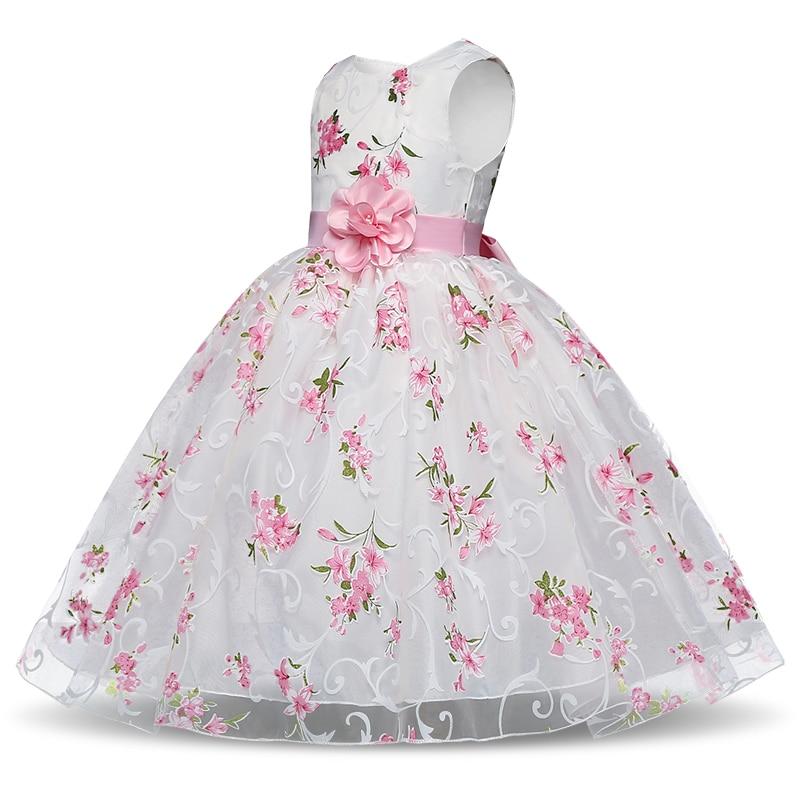Vestido de niña 2018 niños de verano sin mangas floral Vestidos con ...
