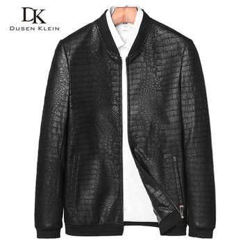 Brand leather jackets formen Genuine Sheepskin coats Crocodile pattern Dusen Klein  Fashion leather men coat and jacket J1718 - DISCOUNT ITEM  62% OFF All Category