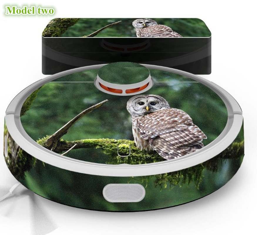 1 Piece Cute Owl Panda Style Sticker for XIAOMI MI 1 Robot Vacuum Cleaner Beautifying Protective Film,8 models for choose gel0192 cute owl style protective silicone back case for iphone 5 grey yellow