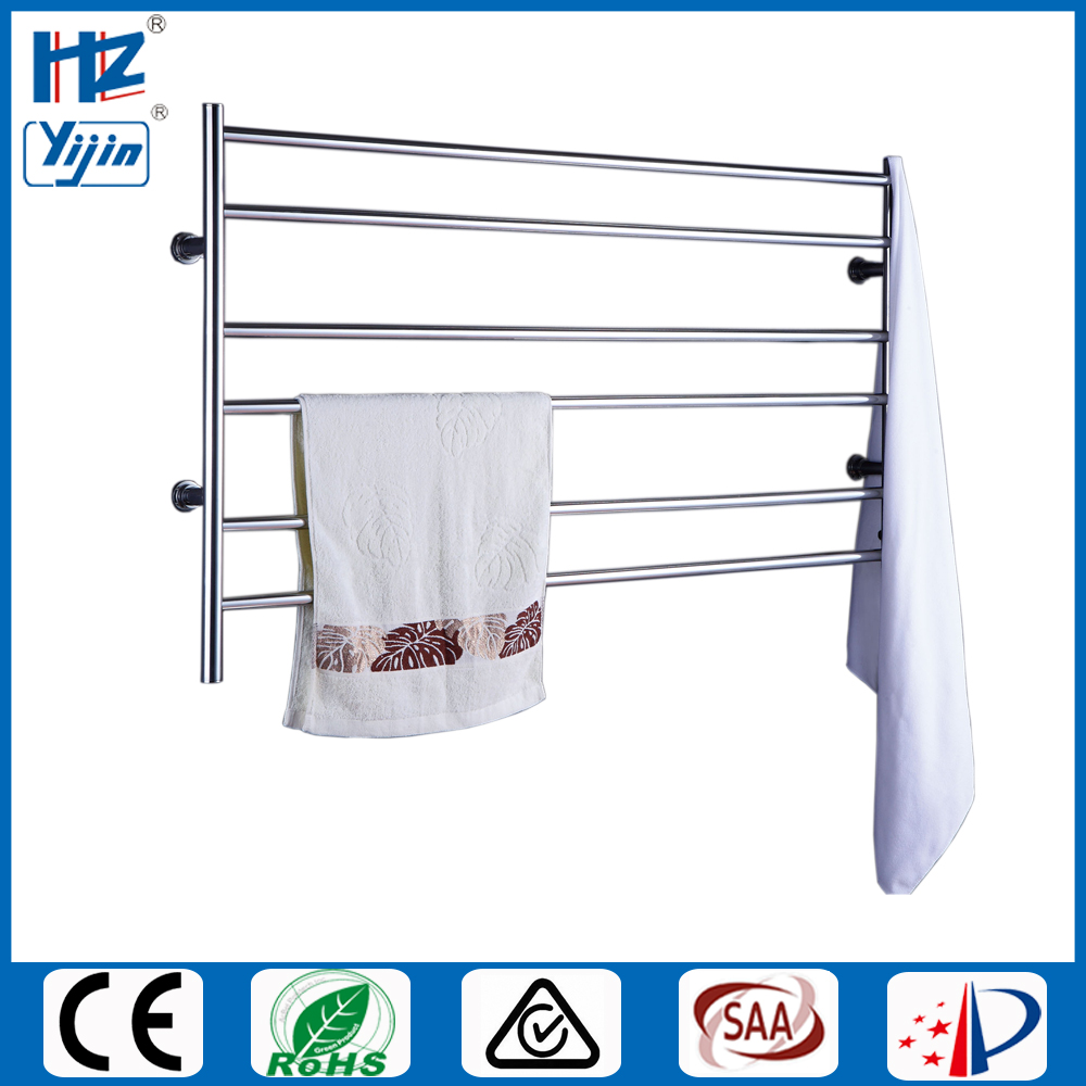 Wide size stainless steel bathroom accessory electric towel heater wall mounted towel warmer heated towel rail