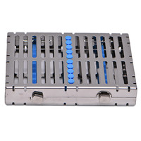 Dental Sterilization Box Dental Cassette Disinfection Rack Tray Stainless steel Box Dentistry Material Dentist Tool