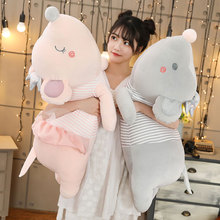 candice guo! cute plush toy lovely cartoon crown stripe mouse dress rat soft doll papa cushion sleeping pillow birthday gift 1pc