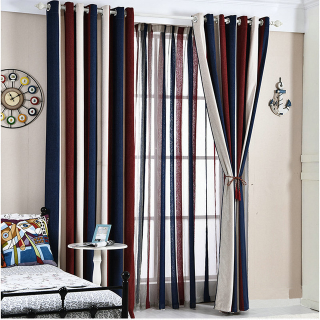 European Style Color Interface Chenille High Shading Blackout Window Curtains For Living Room Bedroom Tulle With