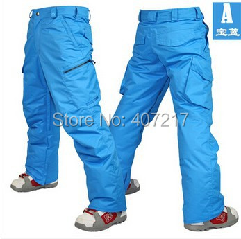 2014 mens blue ski pants coffee snowboarding pants for men green sports snow pants black waterproof 10K windproof free ship
