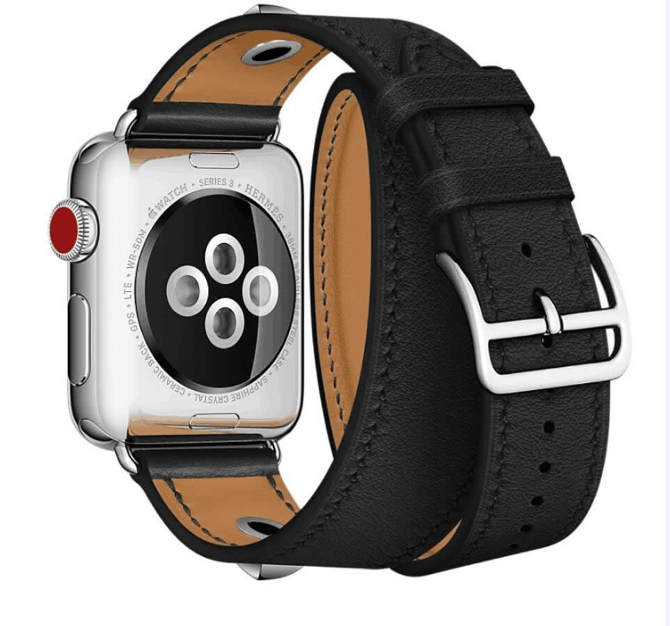 Watch Band For Apple Watch Straps Real Leather Double Tour For Apple Watch Series 1 2 3 iWatch erm Watch Bracelet 38mm-42mm luxury ladies watch strap for apple watch series 1 2 3 wrist band hand made by crystal bracelet for apple watch series iwatch