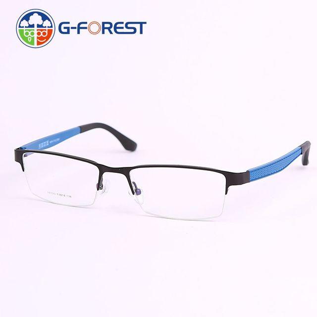 46006fd3879 Optical eyewear frame Half rim prescription eyewear glasses men optical  fashion brand designer Spectacles frame clear