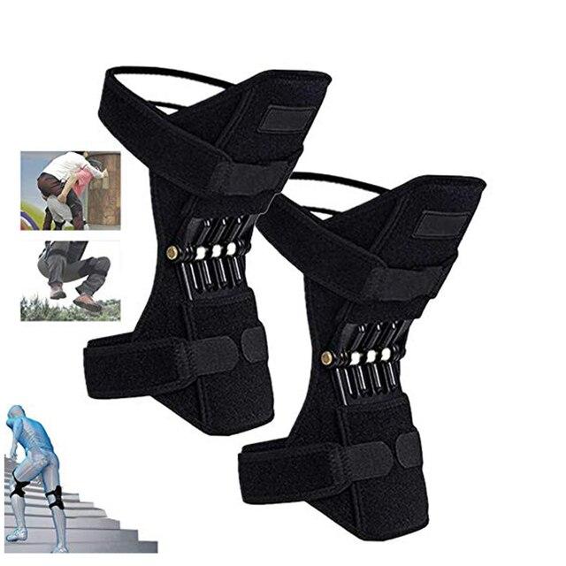 Gemeinsame Unterstützung Knie Pads Atmungsaktive Power Lift Gemeinsame Unterstützung Bandage Knie Pad Power Knie Stabilisator Pads Frühling Kraft Knie Booste