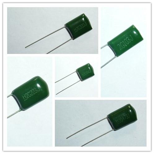 10pcs 400V 2G103 0.01uF 10nF 2G223 22nF 2G333 33nF 2G473 0.047uF 47nF 2G104 100nF 0.1uF 5% Mylar Polyester Film Capacitor