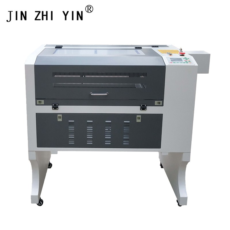 4060 50w Gray-white Laser Engraving Machine CO2 Laser Wood Engraver Machine Ruida 6442s System
