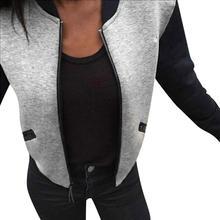 MUQGEW Top Grade Fashion Women Casual Long Sleeve Cotton Blend Short Jacket Slim Coats Outwear Zipper