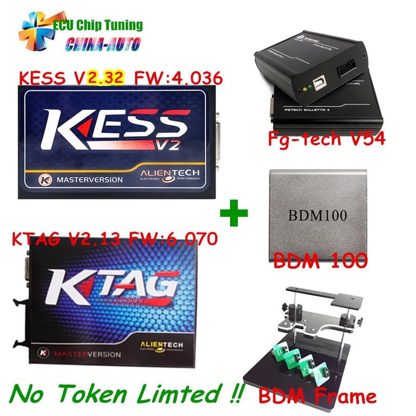 imágenes para Lo nuevo V2.32 4.036 OBD2 Kess V2 Gerente + K-TAG 2.13 FW 6.070 K TAG ECU Programador FGTECH Galletto 4 Master v54 BDM Marco 100