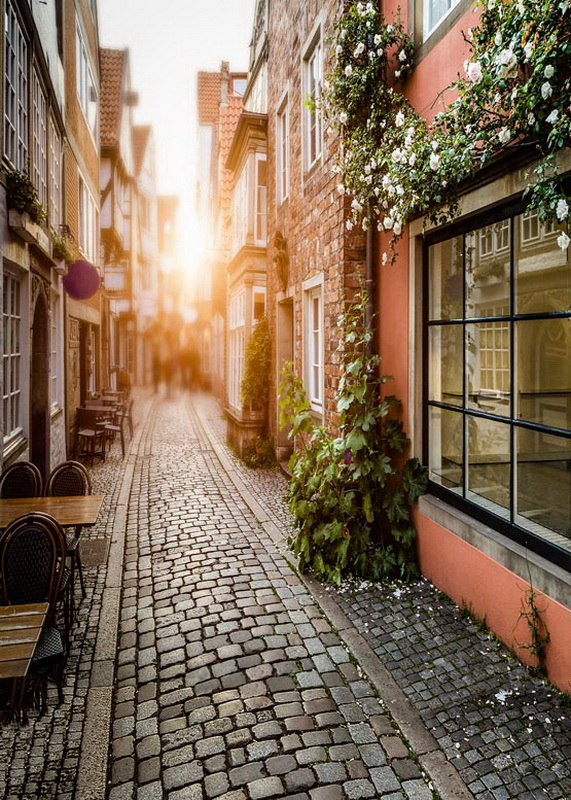 Sunset light in city pathway photography backdrops old brick road photo background for photo studio props photophone S-675 элтон джон elton john goodbye yellow brick road deluxe edition 2 cd