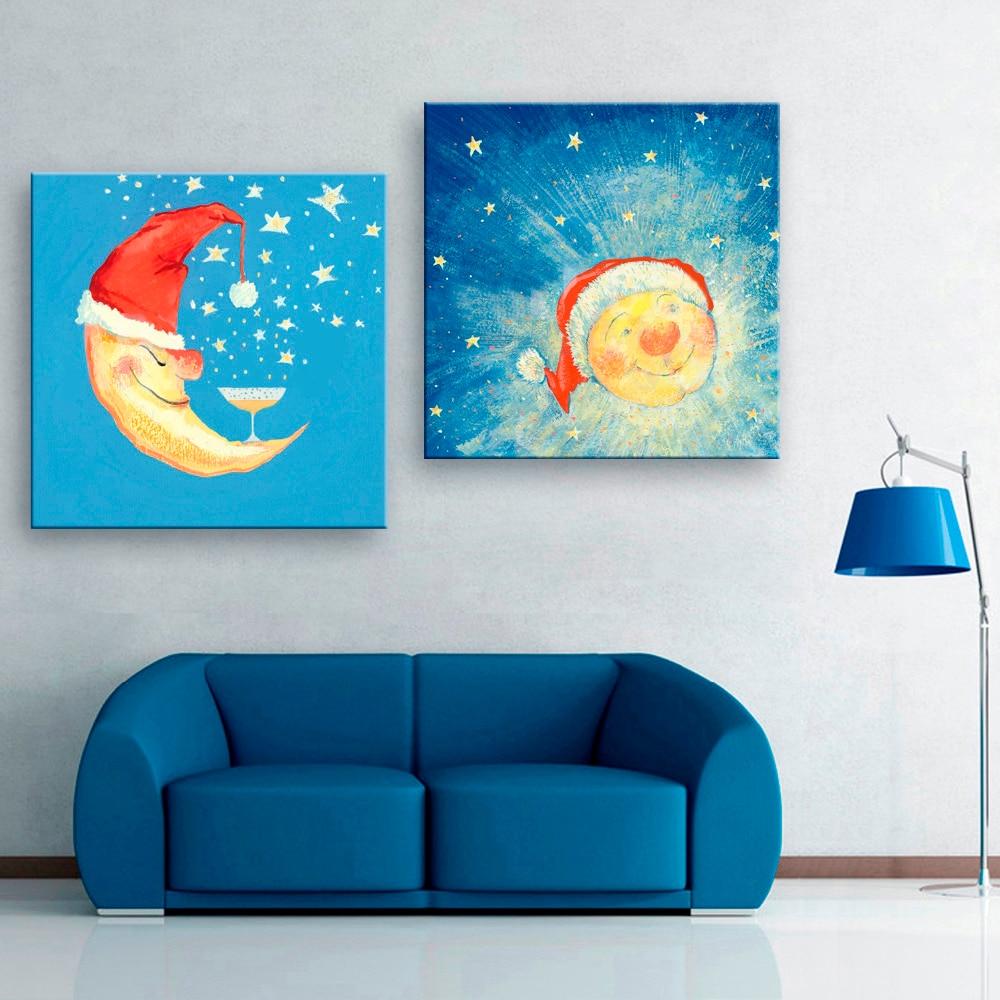 Wall Decals Vinyl Stickers Sun Moon Crescent Dual Ethnic Symbol Night Stars Decal Art Home