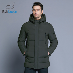 Image 3 - ICEbear 2019 new winter mens jacket with high quality fabric detachable hat for males warm coat simple mens coat MWD18945D