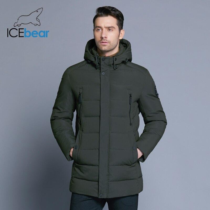 ICEbear 2019 nouvelle veste d'hiver pour hommes avec chapeau détachable en tissu de haute qualité pour manteau chaud pour hommes manteau simple pour hommes MWD18945D - 3