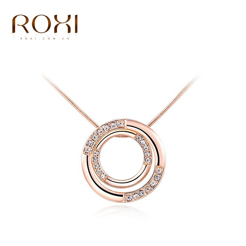 Charm woman rose gold plated crystal heart pendant long sweater charm woman rose gold plated crystal heart pendant long sweater necklace chunky necklace sets jewelry silver rope chain circle in pendant necklaces from aloadofball Choice Image