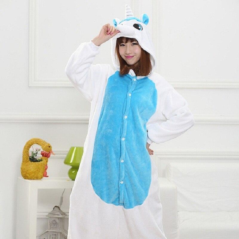 Kigurumi Unicorn Pajamas Halloween Autumn And Winter Pajama Sets Cartoon Sleepwear Women Pajamas Christmas Flannel Animal Stitch