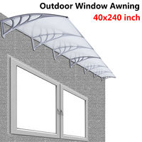40 X 240 Outdoor Polycarbonate Front Door Window Awning Patio Cover Canopy