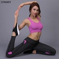 LYNSKEY Two Piece Yoga Set Sports Bra Yoga Pants Sport Suit Women Running Fitness Training Workout