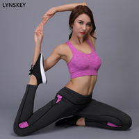 LYNSKEY Two Piece Yoga Set Sports Bra Yoga Pants Sport Suit Women Running Fitness Training Workout