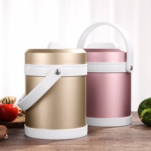 2000ml Big Capacity Lunch Box Food Container Double Microwave Box Storage Portable School Picnic Set Lunchbox Insulation Bags