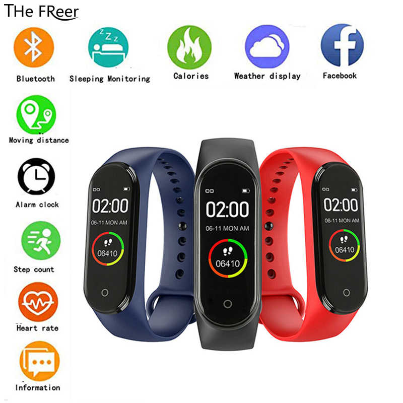 M4 Smart Watch Men Women Sport Fitness Tracker Bracelet Bluetooth Heart Rate Blood Pressure Sleep Monitor Pedometer Smart Band