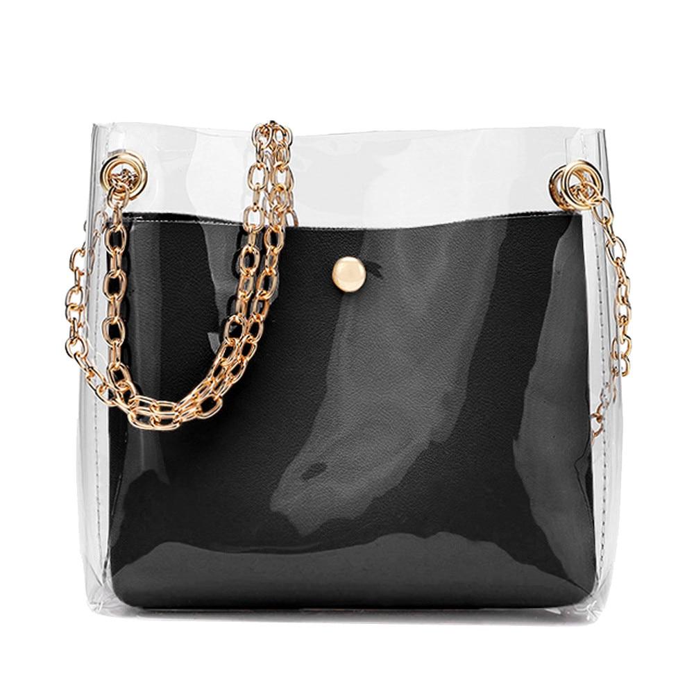 Women Fashion Solid Shoulder Transparent Bag Messenger Bag Crossbody Bag Phone Coin Bag Sac A Main Femme GH#Women Fashion Solid Shoulder Transparent Bag Messenger Bag Crossbody Bag Phone Coin Bag Sac A Main Femme GH#