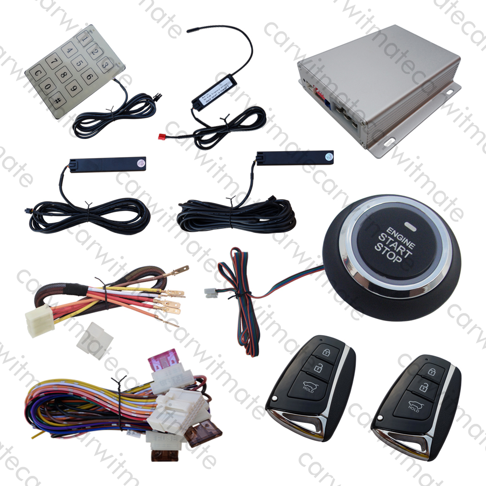 Rolling Code RFID PKE Car Alarm System Push Button Start Stop Remote Engine Start Passive Keyless Entry Smart Password Keypad universal pke car security alarm system with remote engine starter start stop push button passive keyless entry starline