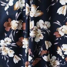 100*145cm vintage flowers fabric viscose soft dress pajamas material