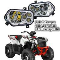 Pair ATV UTV Light Accessories Projector Headlight Polaris Ranger / Sportsman LED Headlight Kit for Polaris Ranger Side X Sides