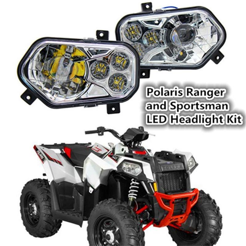 Paire ATV UTV Lumière Accessoires Projecteur Phare Polaris Ranger/Sportif LED Phare Kit pour Polaris Ranger Côté X Côtés