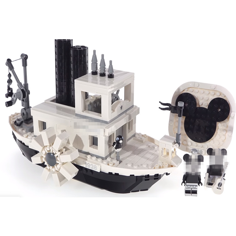 2019 nouveau Wowpa 16062 créateur Expert bateau à vapeur Willie Compatible Legoinglys 10262 briques modèle kits de construction jouets éducatifs