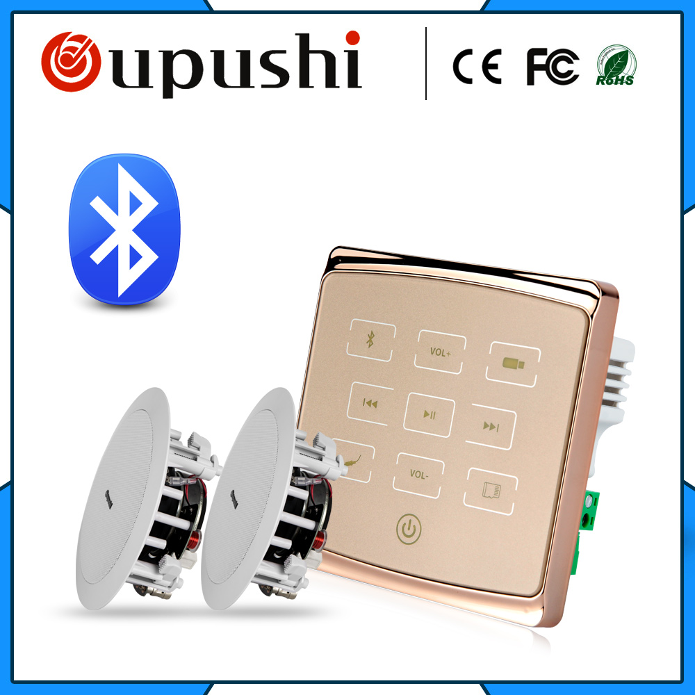 2020 new bluetoooth music controller home amplifier gold and white 2*<font><b>15W</b></font> 4-<font><b>8ohm</b></font> ceiling mounted <font><b>speakers</b></font> audio <font><b>speakers</b></font> bedroom image