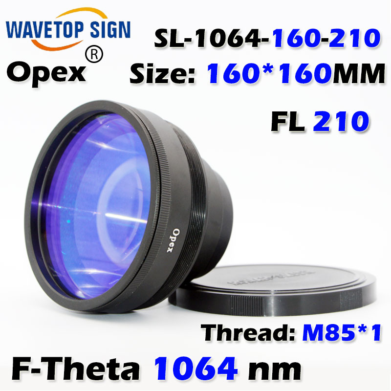 F-Theta 1064 nm scan lens size 160*160mm  focus distance 210mm  use for fiber &yag laser mark machine 1064nm focus lens 70x70mm fiber scanning lens sl 1064 70 100g focus distance 100mm use for fiber yag laser mark machine