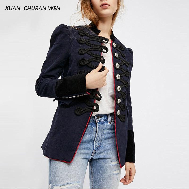 XUANCHURANWEN Woolen Coat For Women Chinese Style Jackets Single Breasted Cardigan Mandarin Collar Slim Ladies Coat XB7298