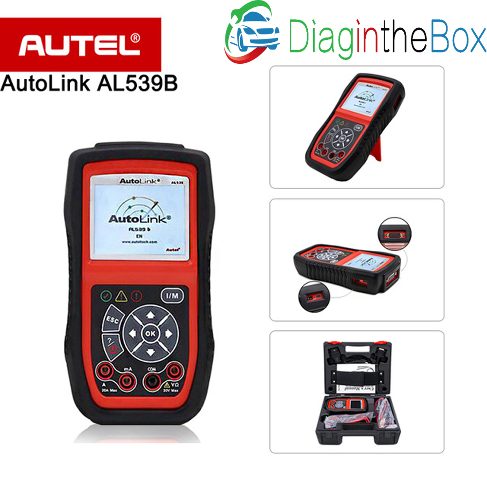 Autel Autolink AL539B OBDII Scanner &Electrical Diagnostic Tool Al539 b with read codes, clear codes, live data and battery test