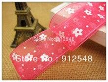 Free shipping 1″(25mm) wide nylon organza sheer ribbon flower sheer ribbon garment Ribbon wholesale retail , xhsd005