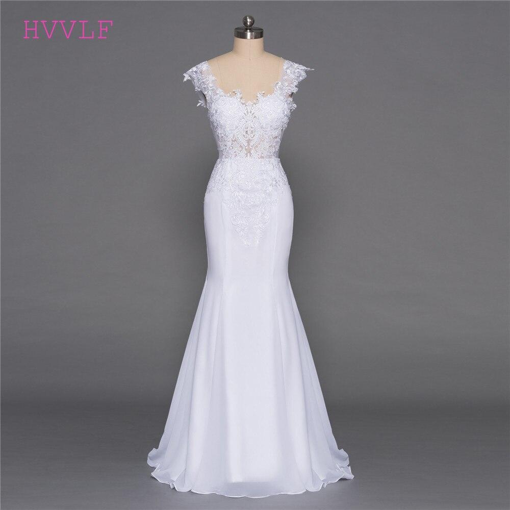 Cheap Vestido De Noiva 2019 Beach Wedding Dresses Mermaid