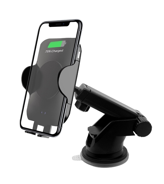 10W QI Wireless Car Charger Automatic Infrared Induction Air Vent Suction Cup Phone Holder for iPhone for Samsung Fast charging