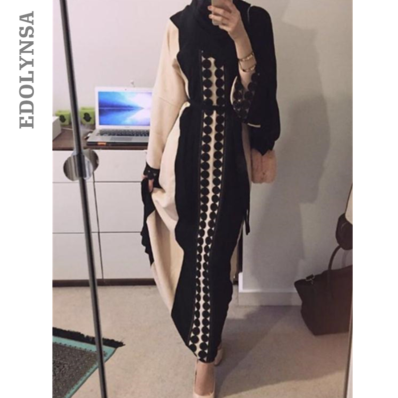 2017 Brand Fashion Muslim Dress Abaya Dress Maxi Prom Dresses Casual Kaftan Plus Size Robe Knitting Party Vintage Dresses #D209 Платье