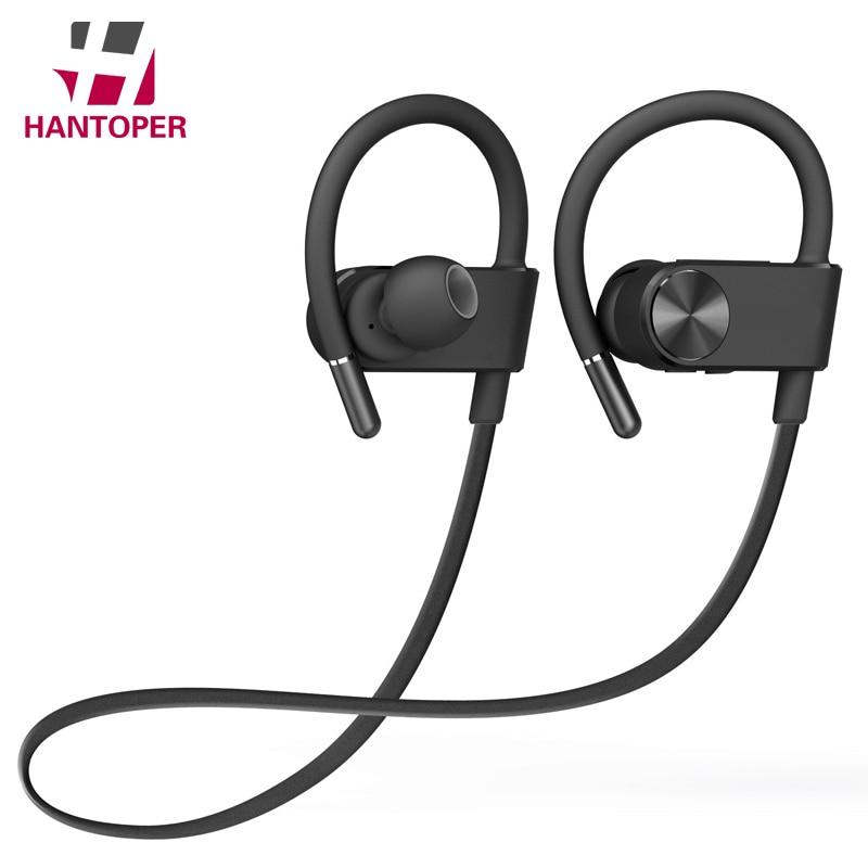 HANTOPER Meilleur Son Écouteurs Sans Fil De Sport Bluetooth Casque Stéréo Basse Écouteur de Course Casque Avec Micro Pour Smartphone