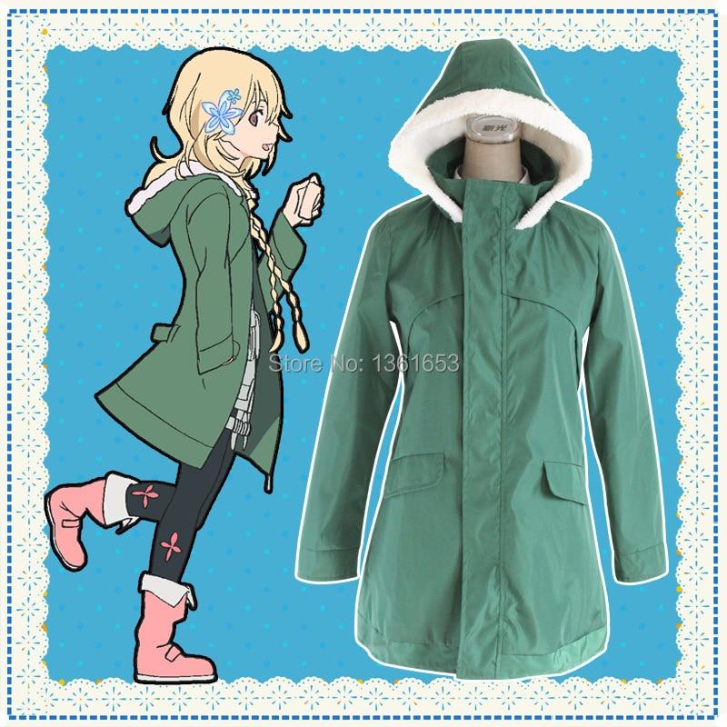 The Rolling Girls Cosplay Hanamori Yumiri costumes hoodies for women Thick Sweatshirt coat outwear sportcoat