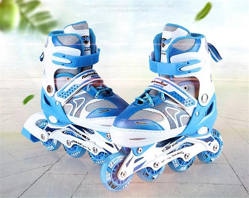 Enfant Patins à roulettes de Chaussures de Sport Chaussures À Roulettes PU Matériel De Patinage Chaussures Toutes Les Roues Ajuster Chaussures Rue Tous Les Jours Taille Réglable