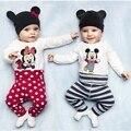 Baby Rompers Мультфильм хлопок детская одежда 2016 Новорожденных мальчиков Девушка одежда нижнее белье Весна Осень Младенческой комбинезон с длинным рукавом