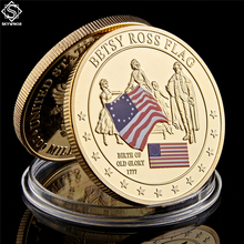 1777 United States History Collection Commemorative Betsy Ross Flag Coin Emorial Continental Meeting сабо betsy betsy be006awemuu2
