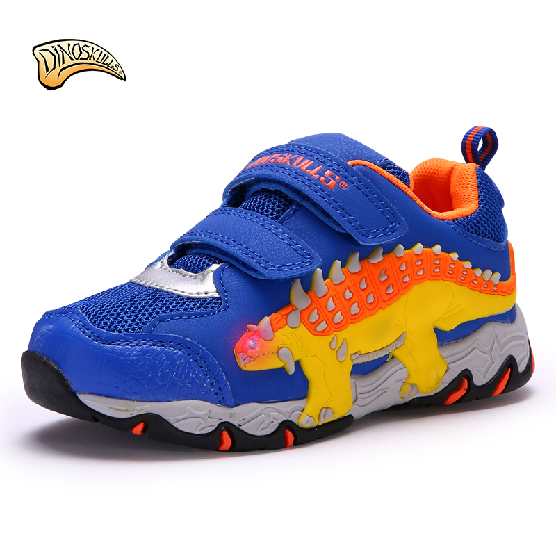 Dinoskulls 2018 new spring autumn children shoes breathable boy light 3D dinosaur shoes kid boy sport casual sneakers new children s shoes in the spring of autumn boy girls running shoes casual shoes eur 31 37 yxx