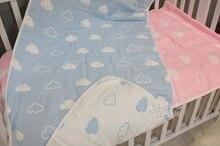 2 цвет 110 * 110 см 100% хлопок облака настолько многоцелевой ребенка пеленать новорожденного ребенка муслин обертывание одеяло дети полотенце