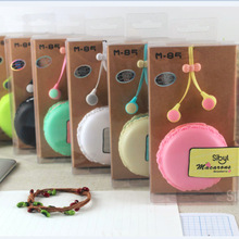 2017 In-Ear stereo earphone for Iphone samsung MI LG Macaron storage case cartoon earbuds mobile phone microphone best gift M85