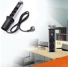Novo 2018 Ultramarino Enviar 2 USB 3 Tomada Pop Up Pull Unidade de Cozinha Bancada de Mesa Tomada Power Point Tomada De Carga DA UE plugue